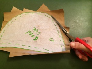 Cut around the tissue paper